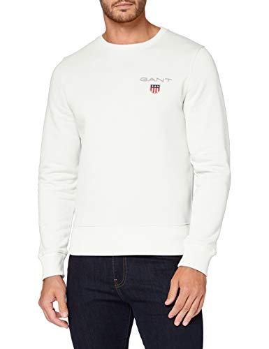 GANT Herren D1. MEDIUM Shield C-Neck Sweat Pullover, Eggshell, 4XL