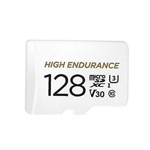 Odoukey Tarjeta de Memoria de 128 GB Micro SD con Adaptador, la Mejor Velocidad de Lectura es de hasta 90 MB/s Blanca