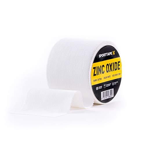 Cinta para el hombro con correa de óxido de zinc SPORTTAPE - 5 cm x 10 m - Cinta médica Athletic Physio para rugby, fútbol, boxeo - Rollo único