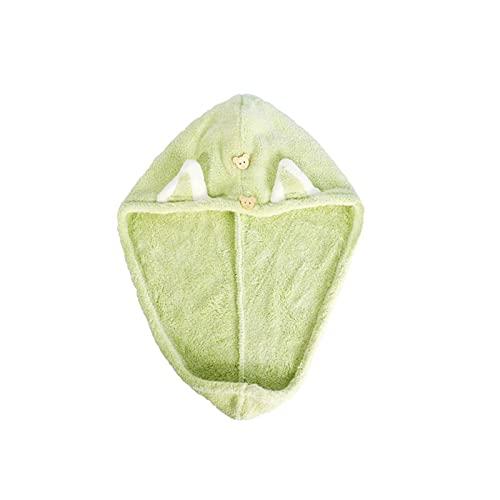 N\C Toalla de Microfibra para Mujeres y niños Gorros para champú Gorros para el Cabello seco para el hogar Gorros súper absorbentes de Secado rápido Gorros de Ducha Pañuelos
