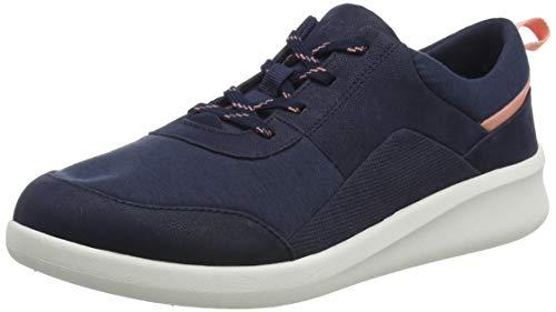 Clarks Sillian2.0 Kae, Zapatillas Mujer, Azul (Blue Marine), 39 EU
