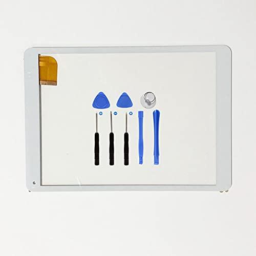EUTOPING Blanco Pantalla táctil digitalizador Sensor de Cristal recambios de Repuesto capacitivos para 9.7 Pulgada ARCHOS 97c Platinum con Herramienta