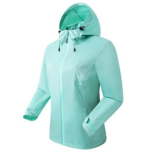 Eono Essentials Damenjacke- Grün, Small Regenjacke herren|wasserdicht| atmungsaktiv|leichte