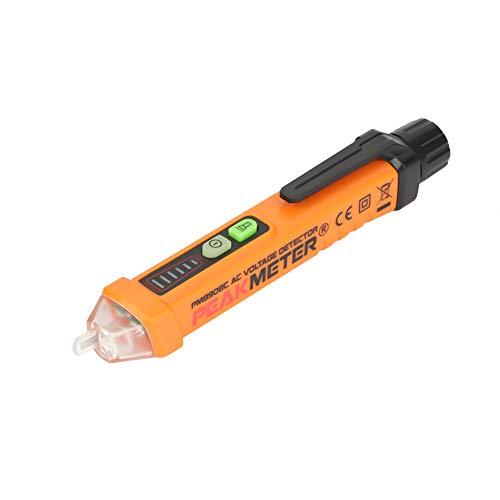 Rilevatore di Tensione, PEAKMETER PM8908C NCV Tester di Tensione Cercafase Senza Contatto Penna Tester con Indicatore LED AC12-1000V Misuratore Voltmetro