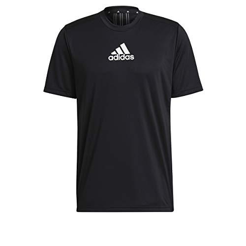 adidas GM2126 M 3S Back Tee T-Shirt Uomo Black/White M