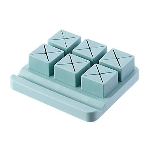 LOKIH Kosmetische Aufbewahrungsbox Lippenstift Desktop Kommode Augenbrauenstift Lippenstift Regal Schlafzimmer Und Badezimmer,Blau