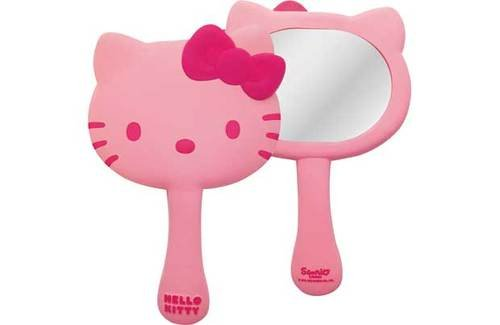 HELLO KITTY HAND HELD MIRROR. IDEAL GIFT (ONE ONLY SUPPLIED)