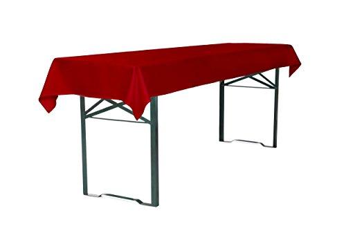 TexDeko Tischdecke für Bierzeltgarnitur 250 x 100 cm Biertischdecke (Rot) waschbar & wiederverwendbar