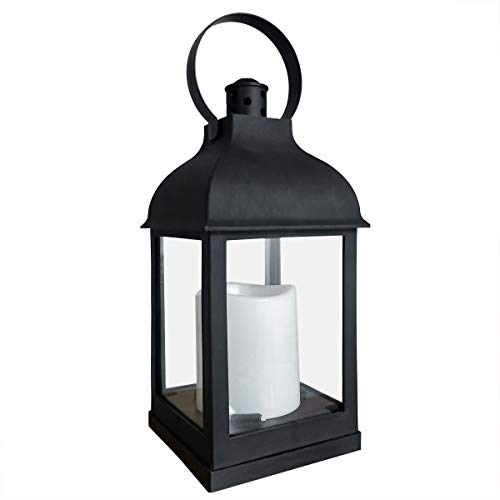 Decorative Lanterns with Timer Flameless Candle Using Battery for 11''H Outdoor and Indoor...
