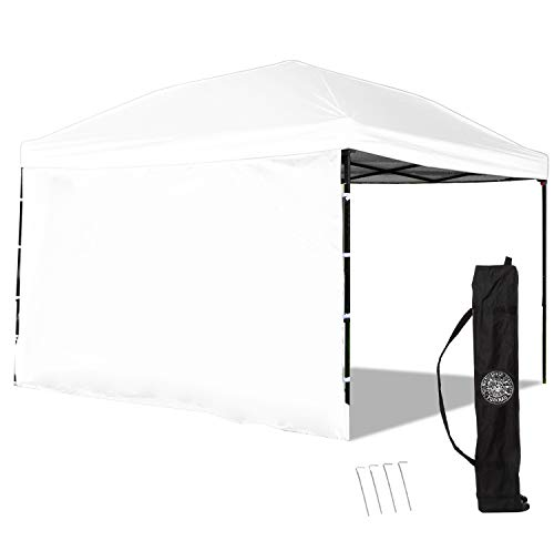 Punchau Pop-Up Canopies - Provides Shade - Multiple Colors and Accessories to Choose from! (White with Sidewalls)