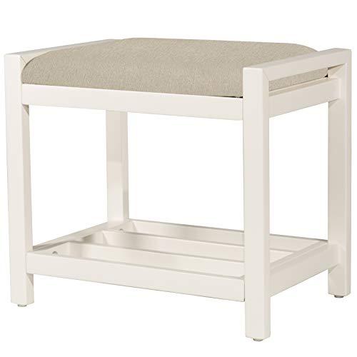 Hillsdale Furniture Amelia, White Vanity Stool