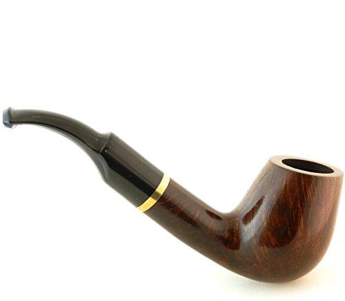 Mr. Brog Full Bent Tobacco Pipe - Model No: 67 Full Bent Pecan Rusticated - Mediterranean Briar Wood - Hand Made