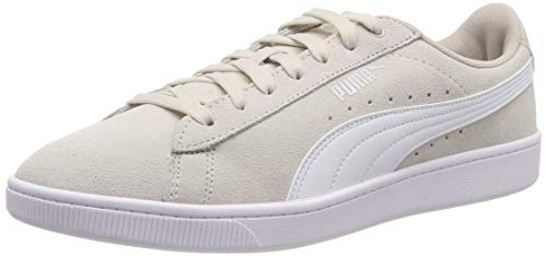 PUMA Damen Vikky v2 Sneaker, Silver Gray-White-Silver, 40 EU