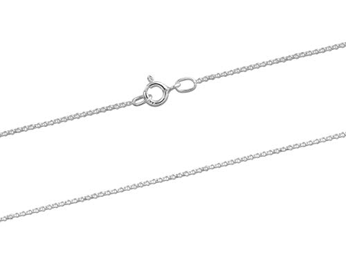 Sterling Silver Necklace Chain 1.0mm Mini Belcher Chain w/Bolt Ring 16'/40cm Length