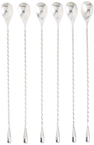 COOCANKE Cocktail Stirrers,Long Spoon for Bar,Stirring Spoon for Coffee,Twisted Bar Spoon for 2 Pack