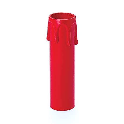 Kerzenhülsen 100mm Ø 26 / 24mm rot für Kronleuchter Lüster Chandelier Kerzenhülse