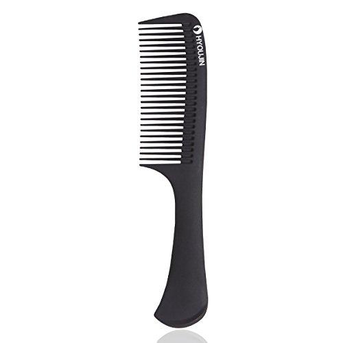 HYOUJIN616 Black Carbon Detangling Hair Brush, Paddle Hair Comb, Care...