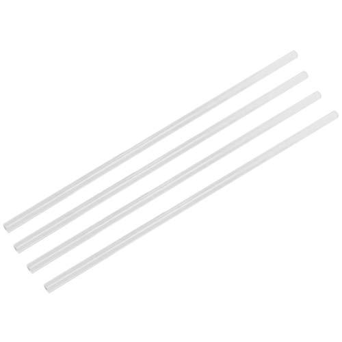 Cuasting 4 tubos de PETG de 10 x 14 mm, tubos duros de refrigeración de agua para sistema de refrigeración de PC, color blanco