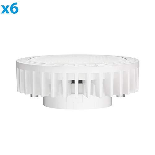 ledscom.de GX53 LED Strahler 11,5W=62W 830lm 100° warm-weiß, 6 STK.