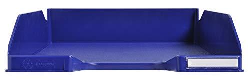 Exacompta 113104D Combo Midi Briefablage (34,7 x 25,5 x 6,5 cm, für Dokumente DIN A4, ideal für Ihre Organisation, robust, stapelbar) 1 Stück nachtblau