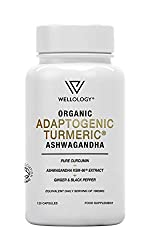 TURMERIC CURCUMIN ENHANCED WITH KSM-66 ASHWAGANDHA, GINGER & BLACK PEPPER - The botanical ingredients & potent herbal extracts included within our Ayurveda inspired Organic Adaptogenic Turmeric Complex are formulated to provide whole-body support BAC...