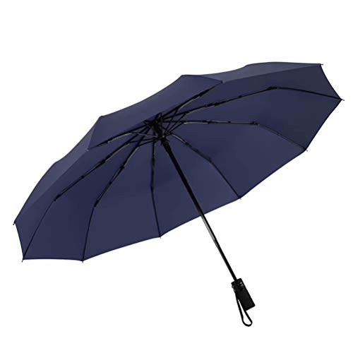 Automatisch opvouwbare paraplu met tien botten,Compact Travel Umbrella Durable Portable Umbrella with Teflon Coating-Reinforced Canopy, Ergonomic Handle, Auto Open/Close