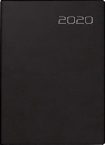 rido/idé 701850390 Taschenkalender Technik S (2 Seiten = 1 Woche, 100 x 140 mm, Balacron-Einband, Kalendarium 2020) schwarz