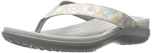 crocs Damen Caprivflip Pantoffeln, Mehrfarbig (Floral/Light Grey), 36/37 EU (4 UK)