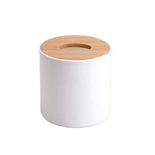 WYBFZTT-188 Caja de pañuelos de Madera de bambú Sala de Estar Mesa de café Caja de Papel Simple Bandeja de servilletas Caja de Bombeo de Papel del hogar Rollo de Papel en casa Tubo