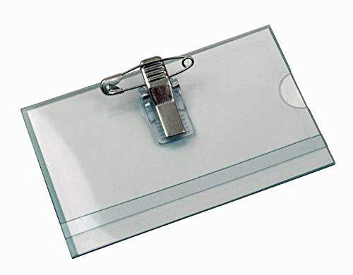50 x Namensschilder NAMENSSCHILD mit Halter + Clip +Nadel NEU