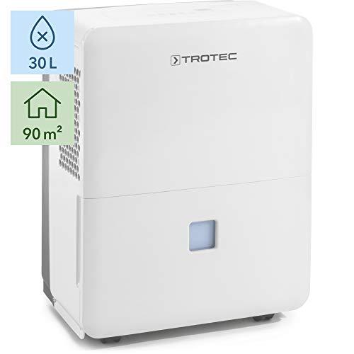 TROTEC Deshumidificador eléctrico TTK 96 E / 30L / Desagüe 3L / Portátil/para Habitaciones de hasta 90m² / 230m³ / 460 W
