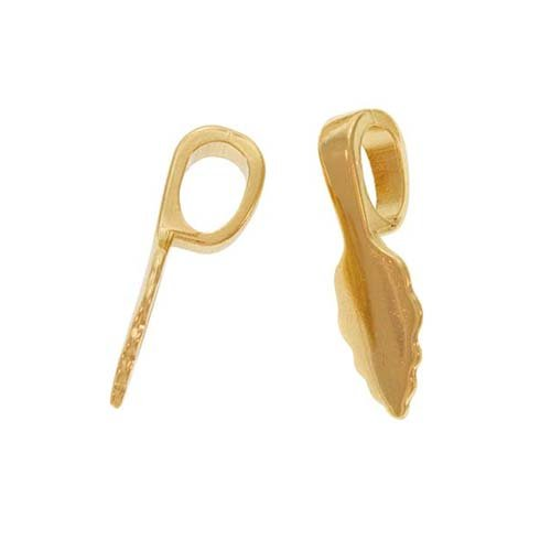 Aanraku, Glue-On Pendant Bails, Medium, 10 Pieces, Gold Plated