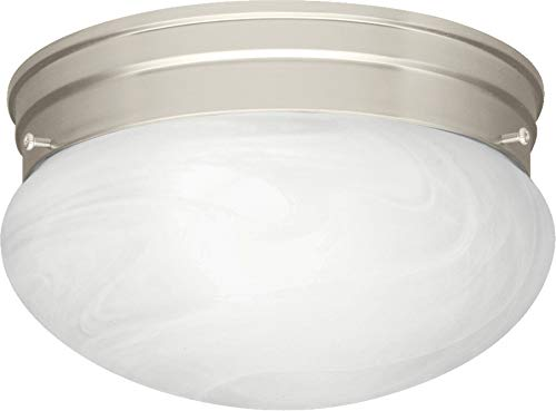 Kichler 8206NI Ceiling Space Flush Mount 1-Light, Brushed Nickel