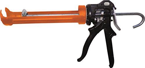 Pistolet mastic orange et noir en acier