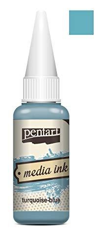 Zita`s Creative Mixed Media Tinte 20ml - Turquoise Blue. Media Ink, Alcohol Ink, Farbtinte
