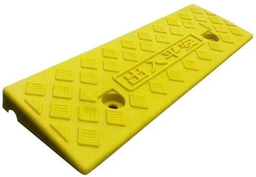 DFJU Rampas internas, Pequeno triângulo portátil Scooter para cadeira de rodas Rampas de segurança para casa antiderrapante Altura do tapete: 3cm / 5cm (Cor: amarelo, Tamanho: 47,5 * 15 * 3cm)