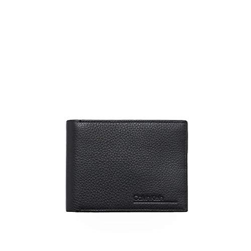 Luxury Fashion | Calvin Klein Heren K50K505657BAX Zwart Leer Portemonnees | Lente-zomer 20
