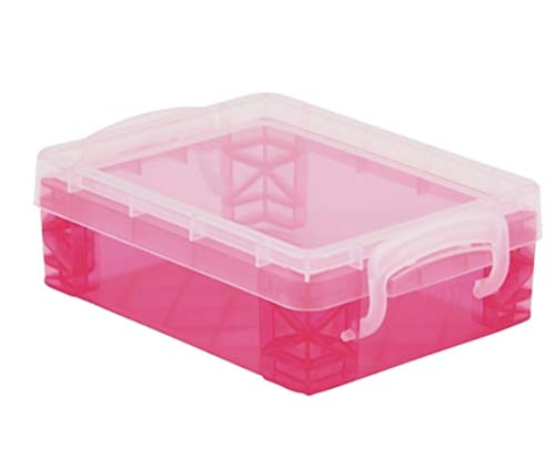 CraZArt Crayons 24 Count with Super Stacker Plastic Crayon Box (Bundle) (Pink)