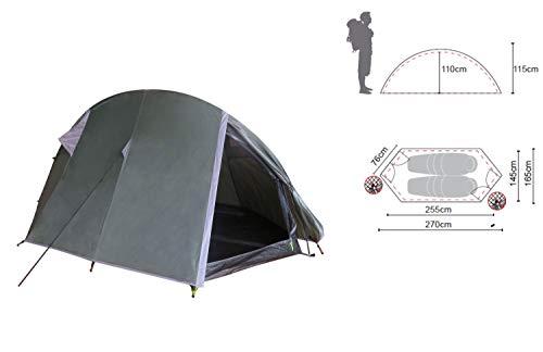 Ribelli Tunnelzelt für 1-2 Personen Ultra-leicht, wasserdicht, kleines Packmaß Zelt für Trekking, Camping, Outdoor