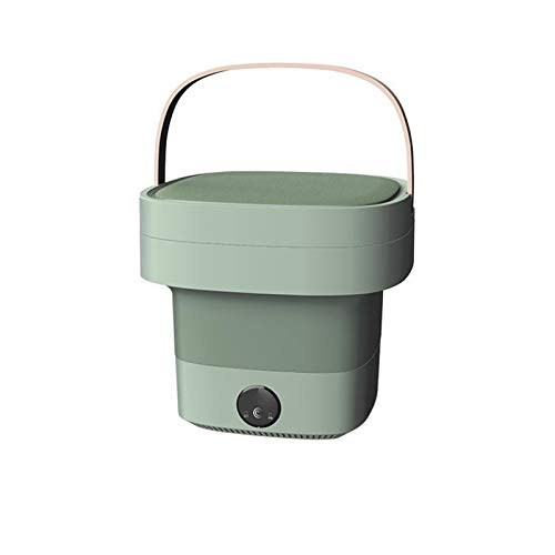 ReedG Mini Lavadora Lavadora Plegable Hogar portátil Mini luz Azul Limpieza de la Ropa Interior Calcetines de Lavado Arandelas portátiles (Color : Green, Size : 28x28x25cm)