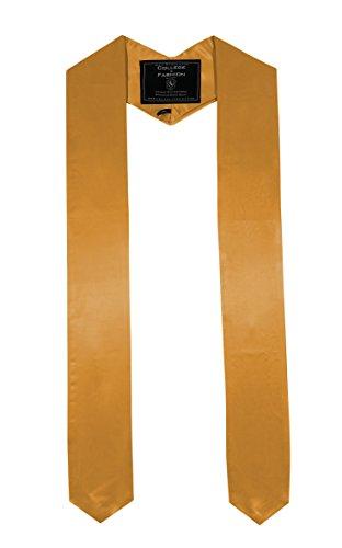 College Fashion - Doktorhüte,Talare, Accessoires Schärpe Abschluss spitz gold-gelb