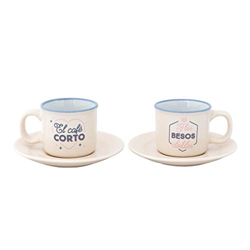 Mr. Wonderful Set 2 Tazas Espresso - El Café Corto y Los...