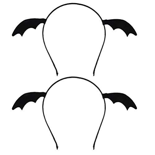 Lurrose - Diadema para tocado de murciélagos (2 unidades)