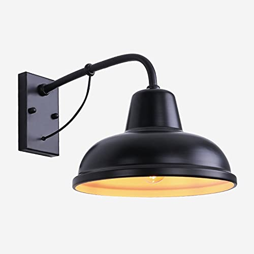 JXEXF Lámparas de pared al aire libre de metal, lámpara impermeable de la lámpara náutica de la lámpara marina de la luz marina, la lámpara de pared del patio del patio de la villa del pasillo, el est