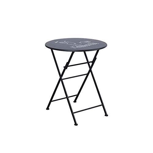 Tägliche Ausrüstung Tragbarer Camping-Tisch Dünner und leichter tragbarer Klapptisch ist ideal für kleine Familientische für den Innen- oder Außenbereich. Extra stark haltbar (Farbe: Schwarz Größe: