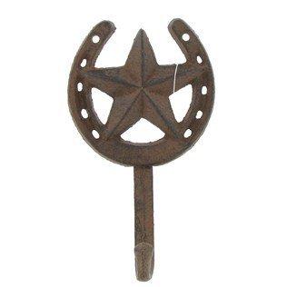 Cast Iron Star Horseshoe Single Wall Hook