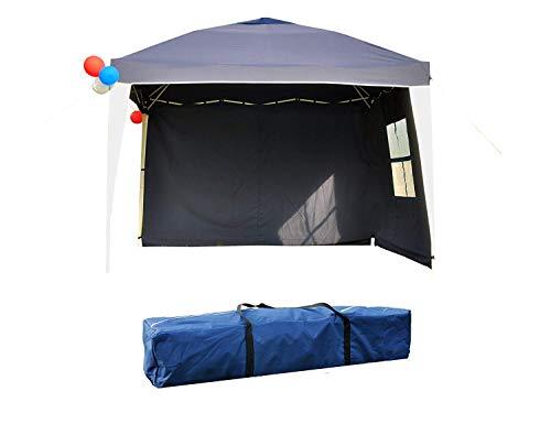 GOJOOASIS Pop up Faltpavillon 3x3m Faltzelt 100% Wasserdicht Partyzelt Pavillon UV-Schutz 50+ mit 2 Seitenteilen und Tragetasche