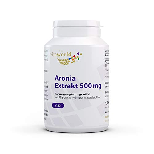 3er Pack Vita World Aronia Extrakt 500mg 360 Kapseln Apotheker-Herstellung