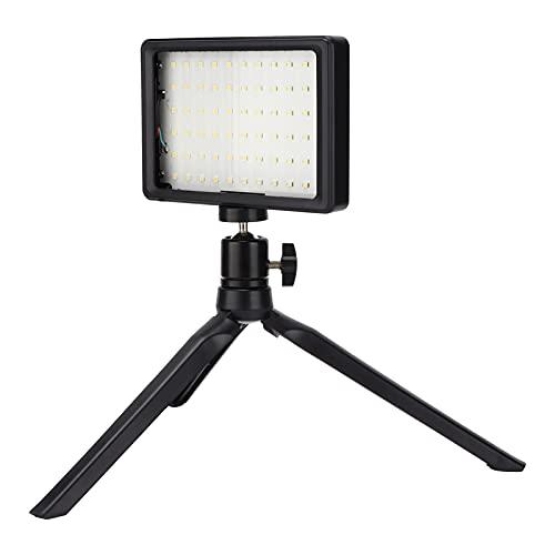 Juego de trípode de luz de Relleno LED, aleación de Aluminio, 4 Secciones, 10 W, 1000 LM, 5600 K, Brillo Ajustable de 11 Niveles, luz de Relleno de fotografía de Estudio de Video LED USB, con Soporte