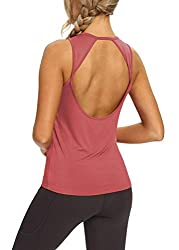 84e8731636 Mippo Womens Activewear Sexy Open Back Yoga Shirt Workout Clothes Sports Gym  Tank Tops